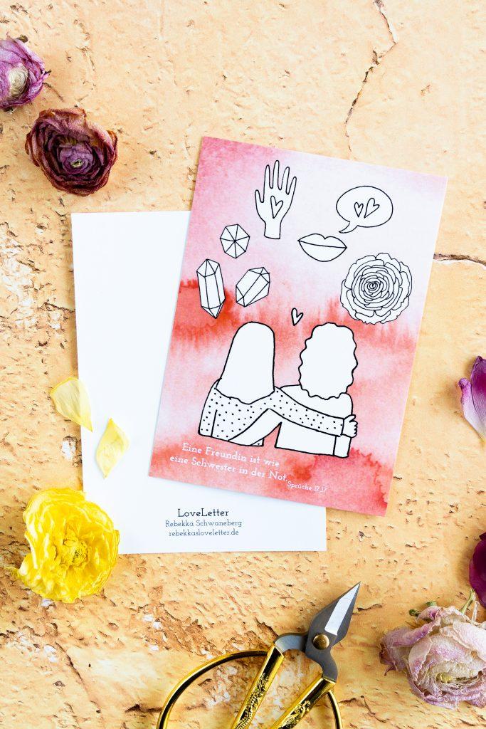 Postkarte Freundschaft-19