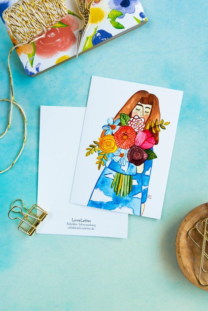 Postkarte Freundschaft-4